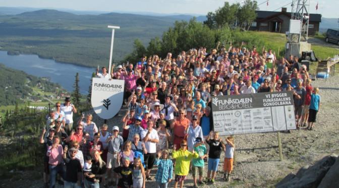 Bybor skålar för gondolbanan i Funäsdalen