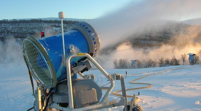 En bild på snödjupet i Tänndalen / Funäsfjällen