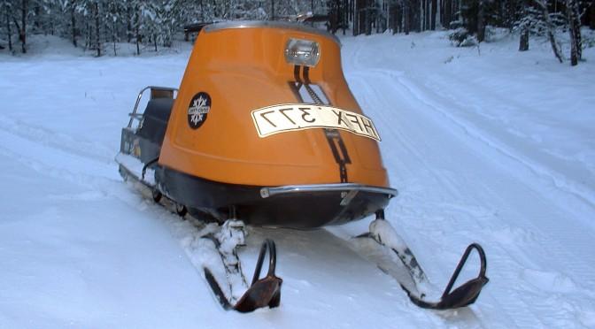 En snöskoter i Funäsdalen